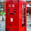 Rare letterbox and telephone in Whitley Bay, England