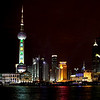 Oriental Pearl Tower, Pudong, from the Bund in Shanghai.