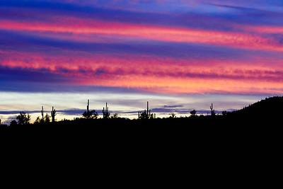 Sunset above Lake Pleasant, Arizona