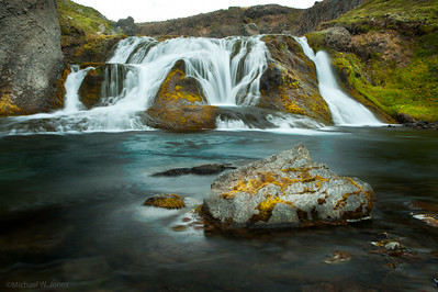 Roadside waterfall near F550, Iceland