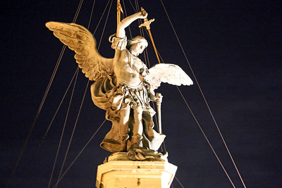 Michael the Archangel atop the Castel Sant'Angelo, Rome, Italy