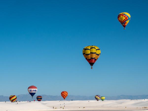 Flying Over White Sands