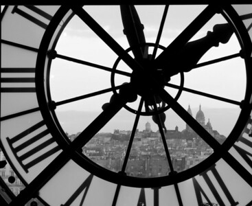 Montmartre through the clock of the Musee d'Orsay