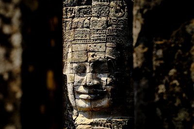 Stone faces on the towers of Angkor Thom