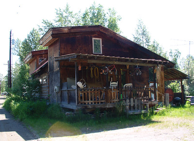 Alaska-style porch.  This one in Talkeetna, a favored jumping-off point for those climbing North America's tallest peak, Mt. McKinley, or Denali as Alaskans call it.