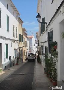 The streets of Mahón, Spain