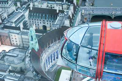 London Eye (looking down)