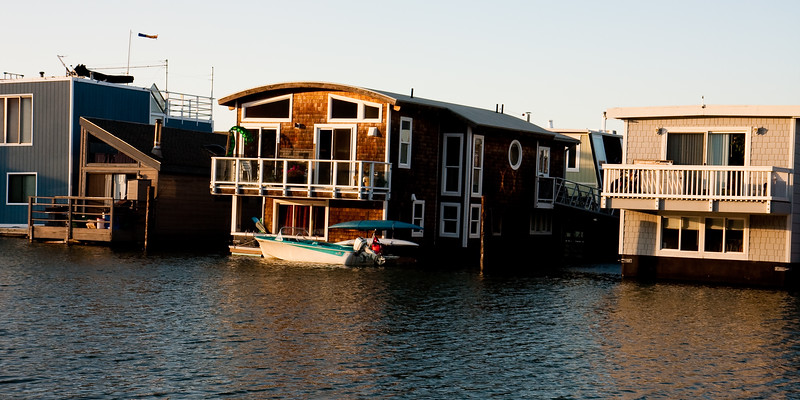 Sausalito's floating homes.
