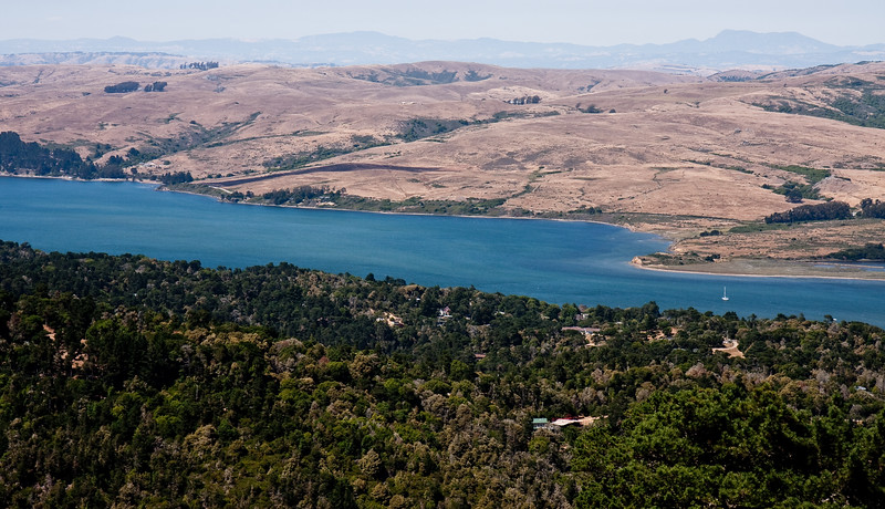 Tomales Bay as seen from the Mt. Vision road.