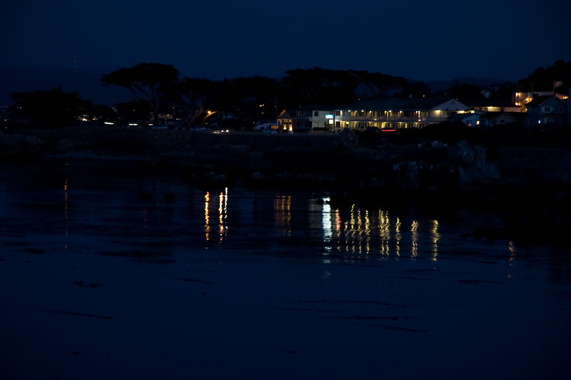 Night shot of Lovers Point Park in Pacific Grove