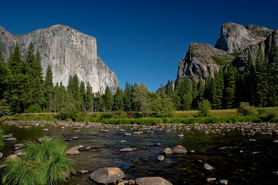 El Capitan, the Merced River, Cathedral Peak, and Bridal Veil Falls
