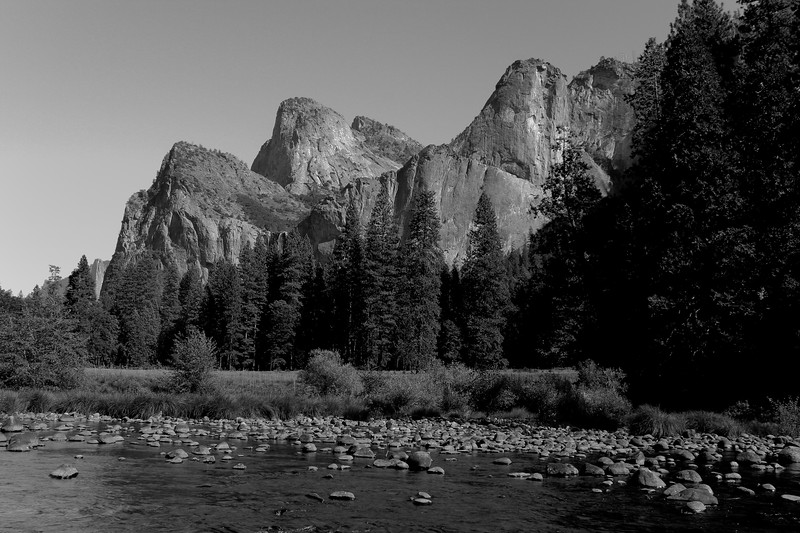 Cathedral Peak and the Merced River