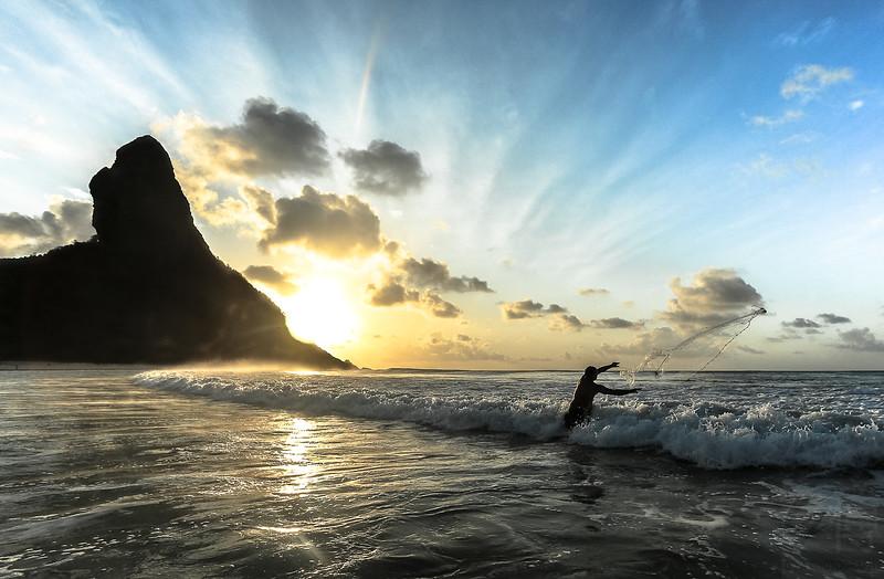 Sunset at Conceição Beach, Fernando de Noronha, Pernambuco - Brasil