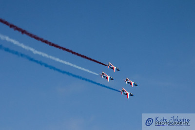 Display by the Patrouille de France, over Perros Guirec and Ploumanac'h