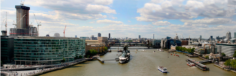 We had good views of the river from the top of the Tower Bridge