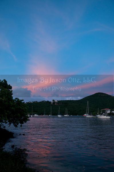Cruz Bay Summer Sunset