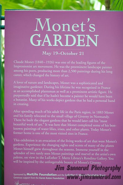 Monet's Garden at NY Botanical Garden.