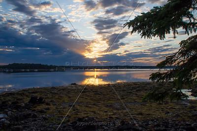 Sunrise off Warren Island ME