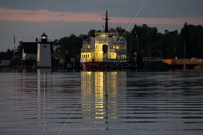 Islesboro Ferry docked for the night. Islesboro, ME