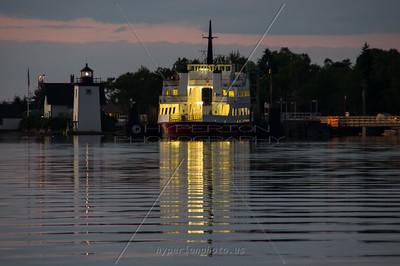 Islesboro Ferry docked for the night. Islesboro, ME