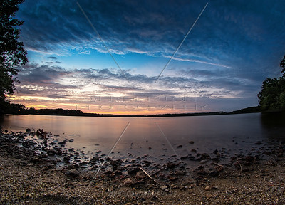 Sunset at Sampson's Pond, Carver MA - September 11, 2014