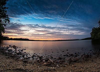 Sunset at Sampson's Pond, Carver MA - September 11, 2014
