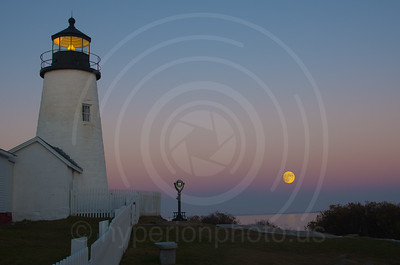 Moonrise at Pemaquid Point Lighthouse