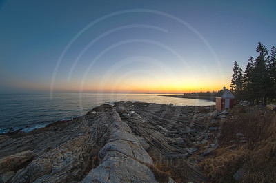 Sunset at Pemaquid Point Lighthouse