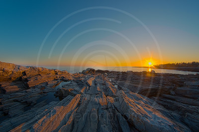Sunset at Pemaquid Point Point Lighthouse
