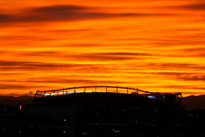 Sunset Over Broncos Stadium
