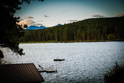 Placid Lake as Light Fades