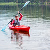 Galen Paddles in Seeley Lake