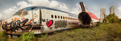 Taken at the airplane graveyard in Bangkok