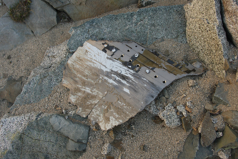 At about 10,800' we began to find pieces of the wreckage.