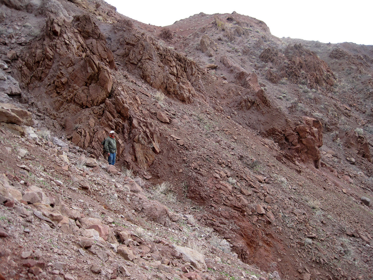 Luis navigating some of the tough terrain we encountered.