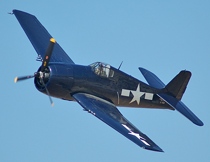 A photo of an F6F Hellcat. <br /> (Photo by: Terry Wall of Airliners. net)