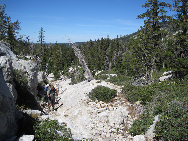 The climb up to the unnamed lake.
