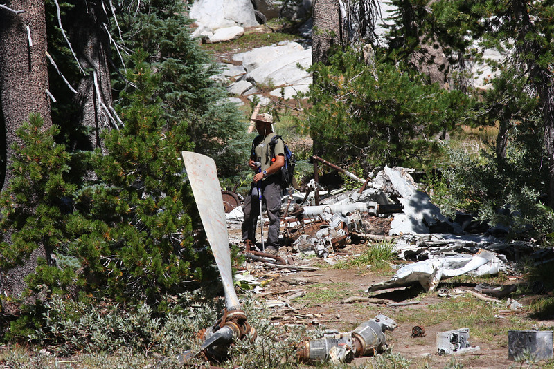 As we walked a little further, we discovered that the wreckage was all in one very small area, not spread out like other crash sites we have visited.