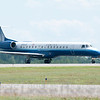 United Express N16546 (Embraer ERJ-145LR) lands at KMHT on 7/9/11