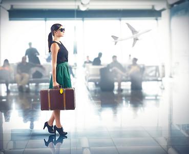 PlaneTag luxury airport suitcase