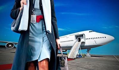PlaneTag Stewardess airport