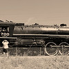 <b>The Spokane, Portland and Seattle 700 (S.P & S. 700) locomotive</b>, the third largest operating steam locomotive in North America.  The locomotive resides in and is owned by the city of Portland, Oregon.<br><br>    © John F. Rogers