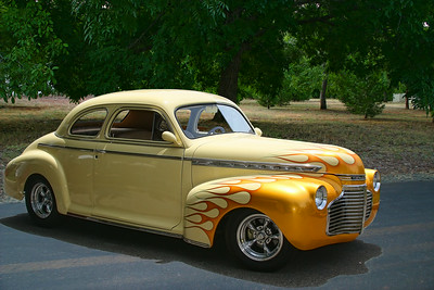 '41 Chevy Special Deluxe Coupe on the way to the show.