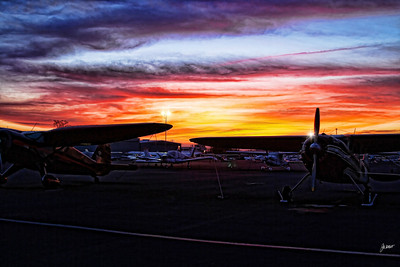 Sunset at Auburn Municipal Airport