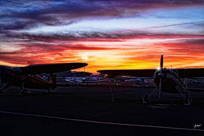 Sunset at Auburn Municipal Airport