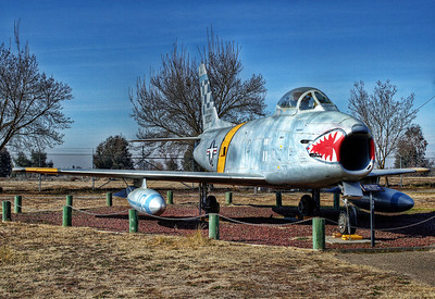 North American F-86H Sabre fighter.  The Air Force's first swept wing jet fighter.  Used extensively in the Korean War.