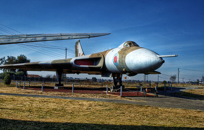 Castle Air Museum - Avro Vulcan bomber - British aircraft used in the Falklands war of 1982.