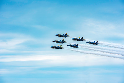 V-Formation, May 2018 Blue Angels at Macdill AFB