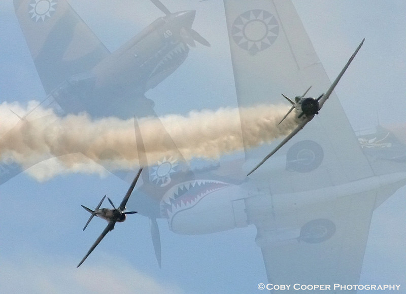 May 25, I have been playing with some montages lately...Not the best technically but I liked the composition. These are WW II fighters participating in the Tora Tora air show performance
