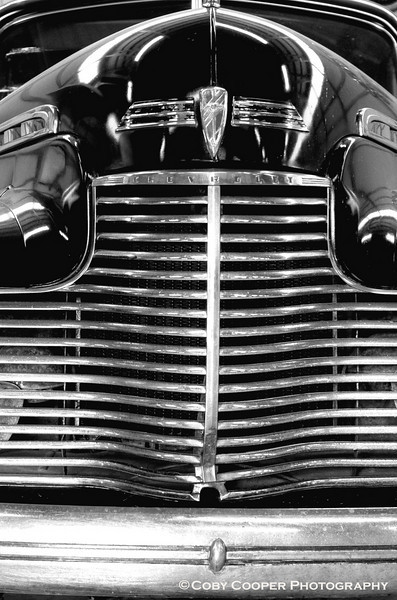 April 11, I love the chrome and grill work on many of these old cars...this Chevy in particular. They were so imposing!